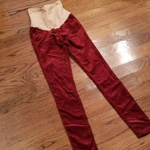 Adriano Goldschmied Maternity Red Pants Sz 26R Sz2